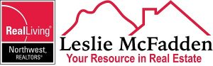 Logo for Leslie McFadden Realtor at Real Living Northwest