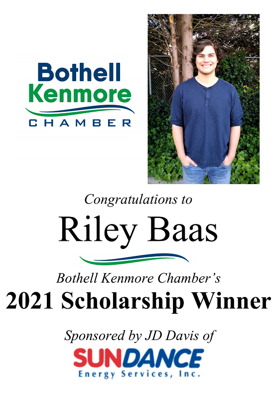 Riley Baas Wins Bothell Kenmore Chamber's 2021 Student Scholarship
